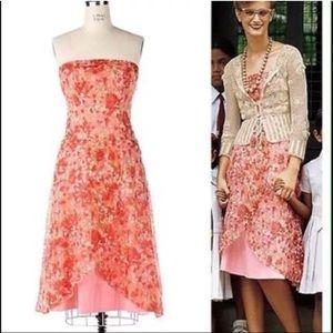 Elevenses 8 Dress Pink Silk Voile Vermillion